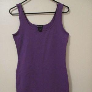Women's Cotton Spandex Purple Dress